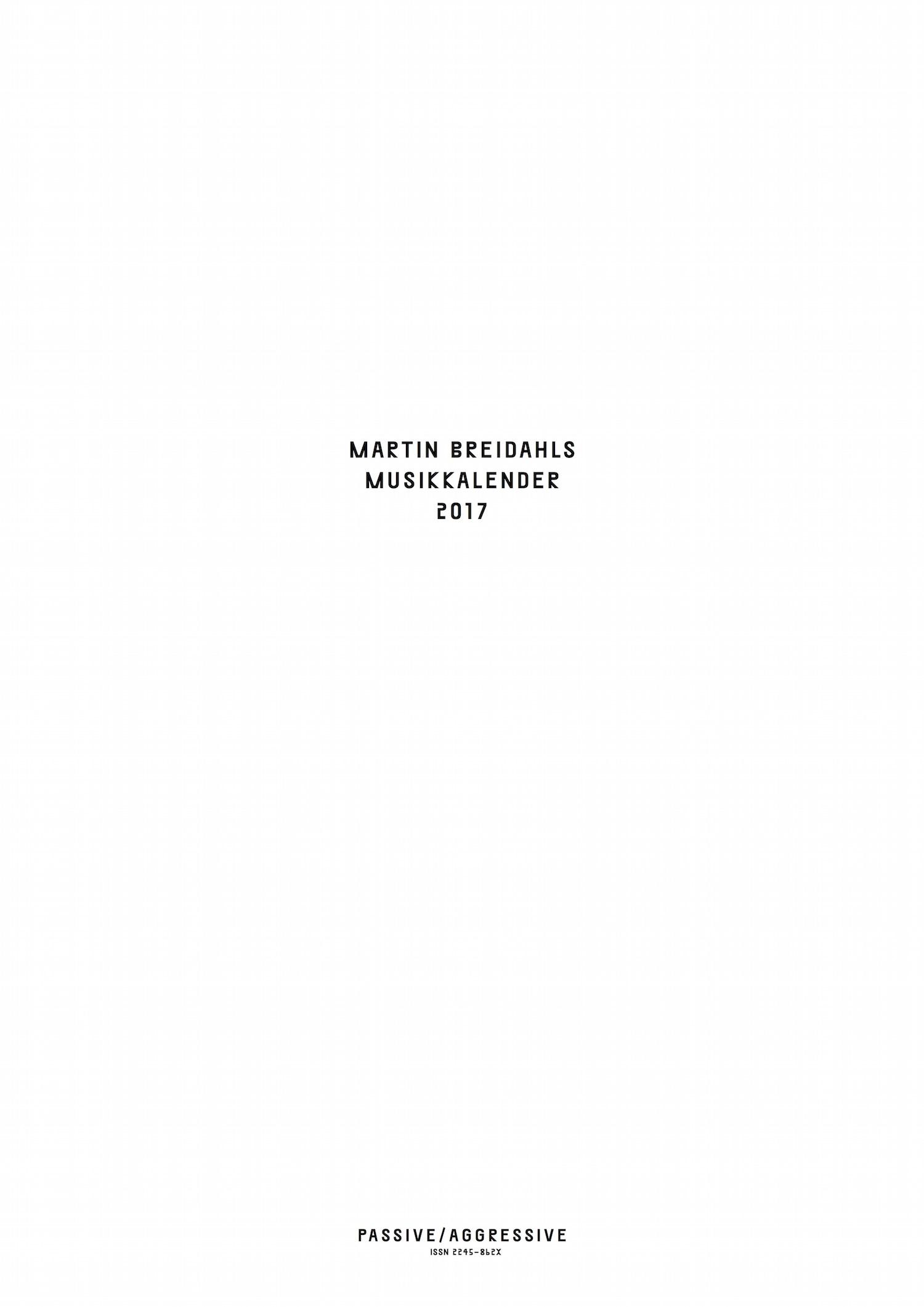 Martin Breidahls Musikkalender